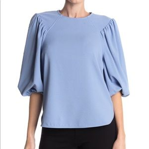 GANNI Exaggerated Puff Sleeve Blouse